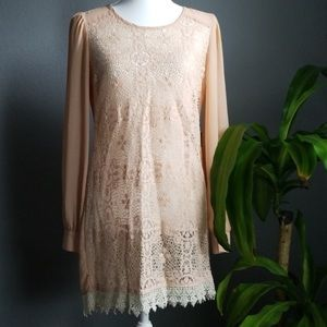 🔴 CLEARANCE- Flying tomato cream lace dress